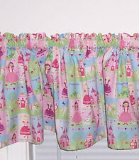Pretty Pink Princess Tiara Castle Nursery Girls Room Curtain Valance New