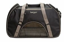 Large Comfort Carrier Soft Sided Pet Carrier Dog Cat Bag Tote Black and Brown
