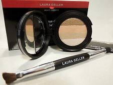 Laura Geller SANDBAR Large Baked Eyeshadow Palette w/Brush Tan-Nude-Copper-Brown