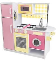 KidKraft Sunshine Kitchen Pretend Play Children Kids Toy Yellow Pink New