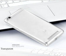 Redmi 3s Clear Transparent Soft Silicon Back Case Cover without hole