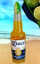 "30"" x 6""  CORONA EXTRA LIGHT CINCO LIME BEER HANGING STANDING INFLATABLE BOTTLE"