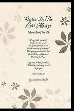 Rejoice in the Lord Always : Memo Book for All by Jamezena Fowler (2011,...