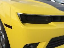 2014 2015 CHEVY CAMARO SMOKE HEAD LIGHT PRECUT TINT COVER SMOKED OVERLAYS