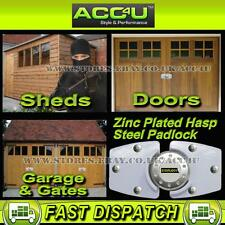 Stoplock White High Security Anti-Theft Home Garage Shed Gate Door Hasp Pad Lock
