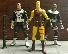 "Marvel Legends PUNISHER DARE DEVIL BULLSEYE 6"" ToyBiz action 3 FIGURE LOT HASBRO"