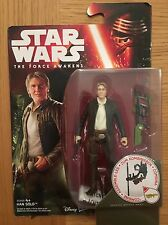 "Star Wars The Force Awakens Han Solo Collectable Figure 3.75"" Tall Brand New"