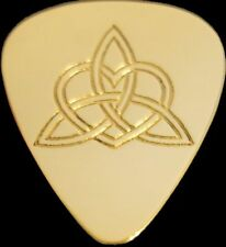 CELTIC KNOT HEART - Solid Brass Guitar Pick, Acoustic, Electric, Bass