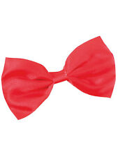 Red Dicky Bow Tie Fancy Dress Elasticated Accessory Clowns Cat In The Hat New