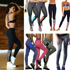 Womens Exercise Leggings Running Yoga Sports Fitness Stretch Pants Trousers+Vest