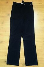Classic Mark Spencer Black Trousers S:8-36 Relaxed Smart Style Straight Leg Xmas