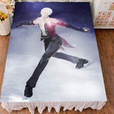 Anime Yuri!!! on Ice Viktor Victor Dancing fleece soft Blanket bed sheet 59x79""