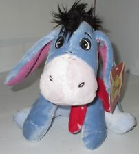 "Disney 9"" Eeyore Winter Snow Flake Scarf Stuffed Plush &Tag 2012 Winnie the Pooh"