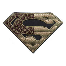 SUPERMAN AMERICAN FLAG USA ARMY TACTICAL US MILITARY OPS  PATCH Aufnäher
