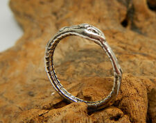 OUROBOROS SNAKE INFINITY RING ANTIQUED SILVER SERPENT ANCIENT ALCHEMY SOPHIA 8