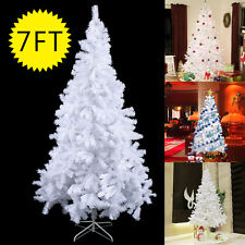 7Ft Artificial PVC Christmas Tree W/Stand Holiday Season Indoor Outdoor Whi