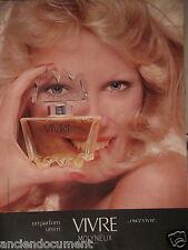 PUBLICITÉ 1974 UN PARFUM UN CRI VIVRE DE MOLYNEUX PARIS - ADVERTISING