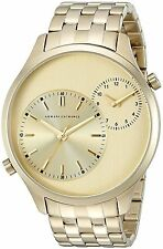 Armani Exchange Men's AX2176 Hampton Dual Time Gold-Tone Stainless steel Watch