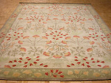 9' x 12' Pottery Barn Adeline Rug Persian Style New Hand Tufted Wool Beige Green