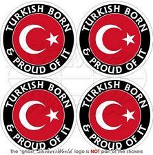 TÜRKEI Türkische Geboren & Stolz TURKIYE Auto Aufkleber, Vinyl Sticker 50mm x4