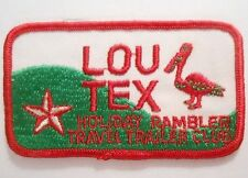 "Lou Tex Patch - Holiday Rambler Travel Trailer Club - 4"" x 2 1/4"""