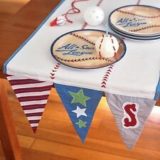 Pottery Barn Kids Baseball Pennant Runner Birthday Party