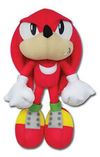 "Authentic ~ 9"" Knuckles Great Eastern Sonic the Hedgehog Plush Brand New Stuffed"