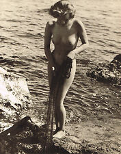 1930's Vintage John Everard Outdoor Female Nude Water Photogravure Photo Print