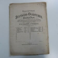 piano 4 hands duet ROSSINI - EDWARD BACHE william tell overture , antique 29page