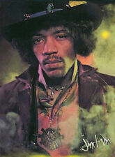 "Jimi HENDRIX Portrait Painting Giclee canvas 16""X20"" Rock Music Art Guitar"