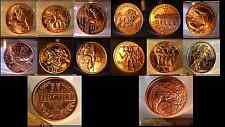 "*RARE* Complete Air-Tite Copper Set ""12 Labors of Hercules"" Plus Lg 5oz Medal"