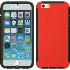 "RED WRAP CASE COVER BUILT-IN LCD SCREEN GUARD PROTECTOR FOR iPHONE 6 PLUS (5.5"")"
