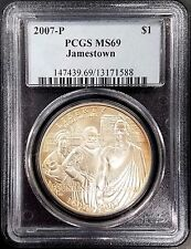 2007 P Uncirculated Jamestown Commemorative Silver Dollar graded MS 69 by PCGS!