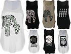 New Women Summer Collections Ladies Sleeveless Printed Vest Tops UK Size 8 - 14