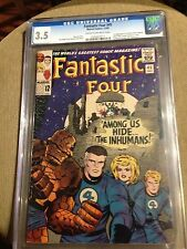 FANTASTIC FOUR 45 CGC 3.5 1 ST INHUMANS AVENGERS HULK SPIDERMAN XMEN 4 5