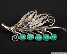 China 20. Jh. Silberbrosche A Chinese Turquoise & Silver Brooch - Chinois Cinese
