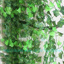 7.8ft Artificial Green Ivy Leaf Garland Plants Vine Foliage Home Decor Flower UK