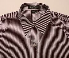 New POLO RALPH LAUREN Womens Shirt Blouse M PM Striped Button Front Insignia