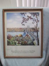 ~ Linda Pault ARTIST SIGNED Indian Summer Poughkeepsie NY ~ Chamber of Commerce