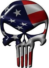 Punisher with American Flag dimensional sticker / decal