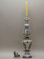 ENORME VASO porcellana lampada candelabro CAPODIMONTE scuol GINORI MOLLICA cappè