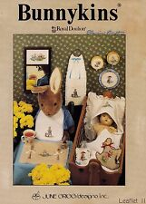 Bunnykins, Baby Decor June Grigg Designs Inc. Cross Stitch Pattern Leaflet 11