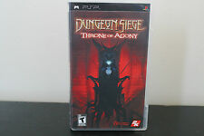 Dungeon Siege: Throne of Agony  (PlayStation Portable, 2006) *Tested / Complete
