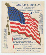 Ansted & Burk trade card  brands flour  Patriotic  flag and Star Spangled Banner