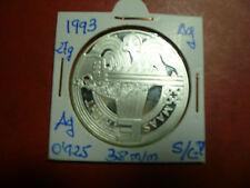 25 Ecus de plata de 1993