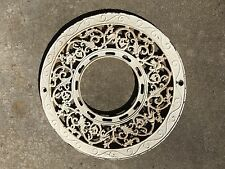1897 Stovepipe Collar, Antique Ornate Cast Iron– Grate – Register Stove Pipe