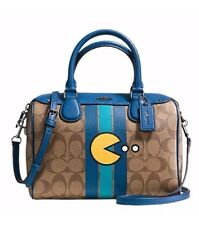 NWT COACH PAC MAN *LIMITED EDITION* SIGNATURE SMALL SATCHEL CROSSBODY BAG