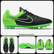 Sz 7 Nike Tiempo Legend V AG PRO ACC Football Boots 717143-003 Black Green
