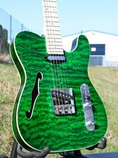 Weller telestar * quilted Maple * Maple Neck * strings thru Body * érable cou * vert