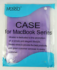 Mosiso MacBook Air 13 Case Light Purple Plastic See Through  Ships Today